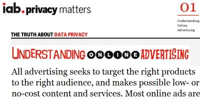 Раздел Privacy Matters на сайте IAB с объяснениями особенностей интернет-рекламы